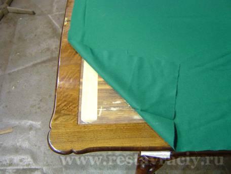 Сукно выкраивается по размеру