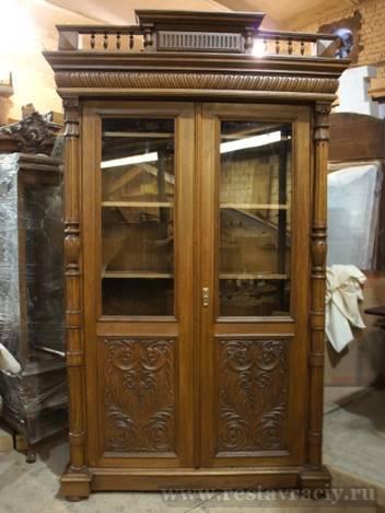 Шкаф книжный, старинный, конец 19 века