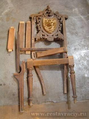 Полная реставрация стула
