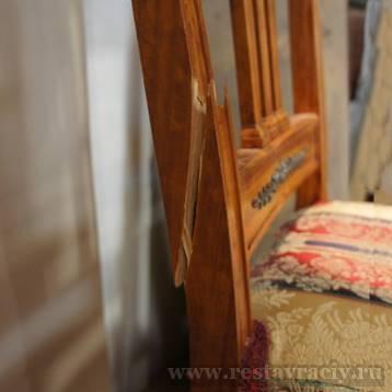 Склейка спинки стула
