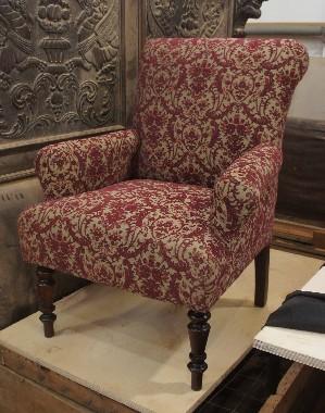 Кутаное кресло Обивка и перетяжка тканью. Гобелен, обивочный шелк, бархат.