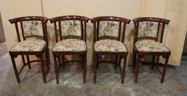 Виды венской мебели. Гнутый бук. Оригинальная обивка. Декорирование стульев.