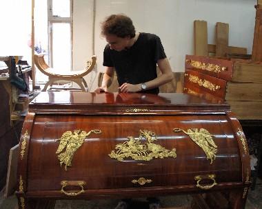 Полировка мебели. Реставрация старинной антикварной мебели. Ручная полировка. Музейная реставрация. Гарантии.