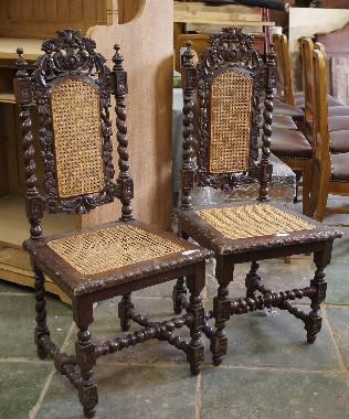 Ремонт старинных стульев. Замена и ремонт ротанговой сетки. Реставрация плетёной и резной мебели.