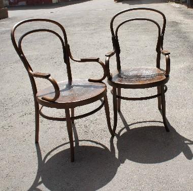 Реставрация венской гнутой мебели. Восстановление фанерных сидений, сетки, замена обивки.