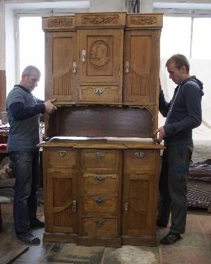 Реставрация буфета, комода, шкафа, другой корпусной старинной мебели из массива дуба, сосны, берёзы, ореха. Бережная доставка входит в стоимость реставрации.