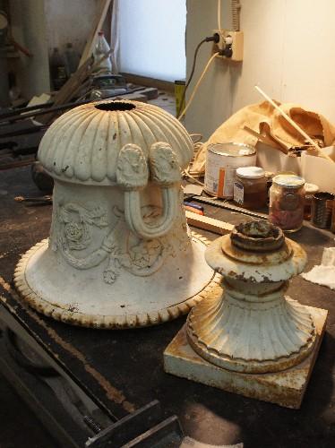 Садовая ваза чугунная садовая реставрация
