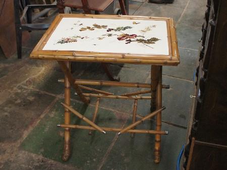 Реставрация бамбуковый столик