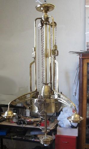 Реставрация старинной люстры