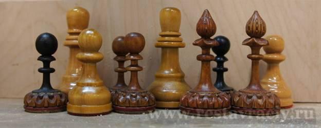Копии деревянных шахмат