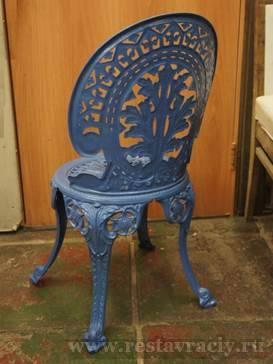 Покрасить металлические стулья
