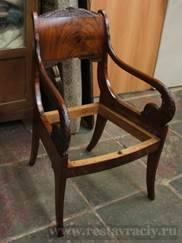 Реставрация ампирного кресла