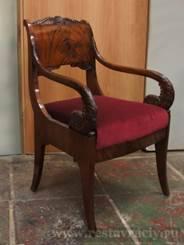 Реставрация кресла классицизм
