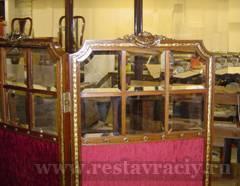 Реставрация ширмы со стеклами