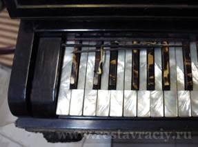 Ремонт, реставрация клавиш клавиатуры пианино, фортепиано