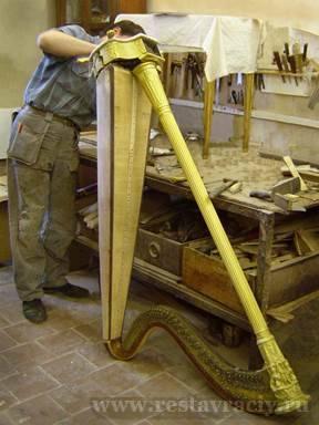 Реставрация и ремонт арфы