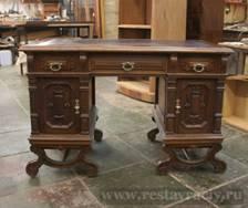 Старинный стол до реставрации