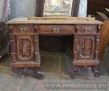 Старинный стол после реставрации
