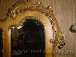 Реставрация декора зеркала