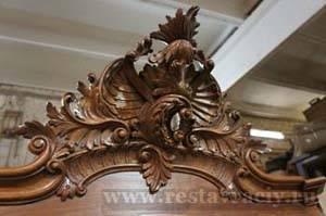 Реставрация навершия или короны шкафа