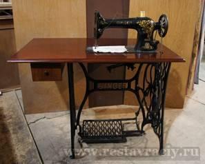Реставрация швейной машинки зингер своими руками 35