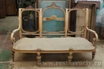 Антикварный диван реставрация