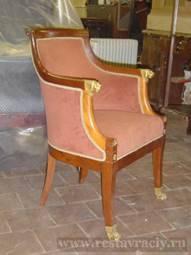Кресло старинное ремонт реставрация