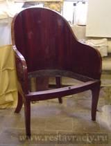 Этапы реставрации кресла
