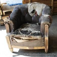Реставрационные работы кресла кожаного