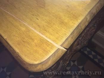 Ремонт трещины на мебели