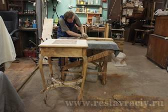 Вощение мебели в реставрации