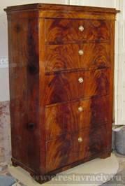 Реставрация мебели красного дерева