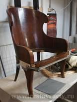 Реставрация мебели красного дерева. Кресло